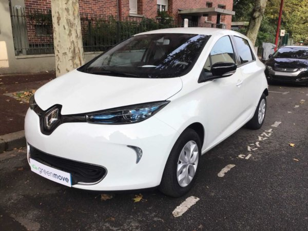 Renault Zoe blanche d'occasion